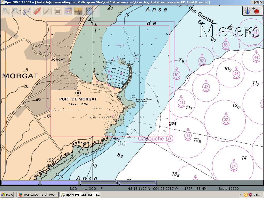 carte marine pour opencpn
